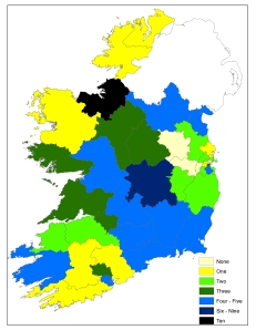 Seanad (vocational panels) candidates by constituency, 2011 General Election