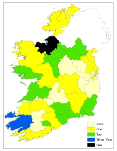 Seanad Election 2011 seats won by constituency