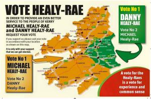 Figure 1: Vote management strategy for Michael and Danny Healy-Rae in the Kerry constituency, General Election 2016