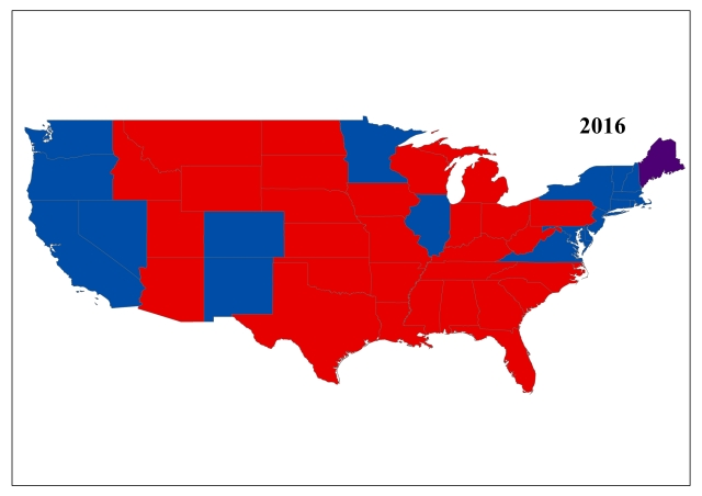 The Geography of the 2016 USA Presidential Election: Analysing the ...